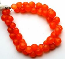 "Natural Gem Fanta Orange Color Chalcedony 9 to 12MM Onion Shape Briolettes 8.5"""
