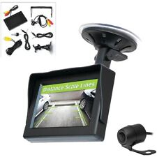 """Pyle PLCM44 Back-Up Rearview License Plate Camera System Kit 4.3"""" Color Monitor"""