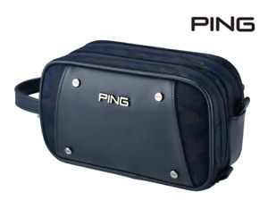 PING 2020 Premium Golf 3-Zippered Pouch Bag Pocket Navy Color Gift Accessory_AU