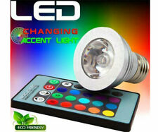 2 Pack - 3W E27 16 Color 80LM LED RGB Magic Light Bulb Lamp with Remote Control