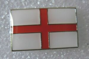 St George flag pin badge. England. English. Red cross on white
