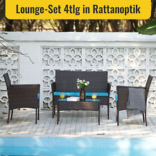 4 Stk Gartenset Sitzgruppen Möbel Gartenmöbel mit Bank Stühlen Tisch Loungemöbel