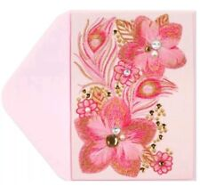 """""""Pink Feather Flowers"""" Blank Card Breast Cancer Research Foundation - Papyrus"""