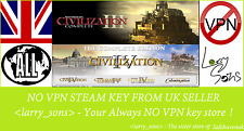 Sid Meier's Civilization III + IV Complete Steam key NOVPN Region Free UK Seller