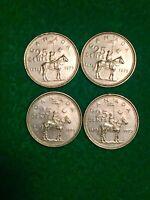 Canadian 1973 RCMP Comemorative Quarters