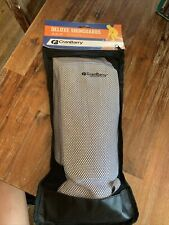 """New White CranBarry Deluxe Field Hockey Shin Guards One Size Fits all Adult 10"""""""