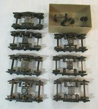 7 O Scale Walthers Standard 6-Wheel Trucks - Brass or Metal Wheels