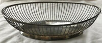 Vintage Sheridan Wire Silver Plate Bowl E.P.S Oval