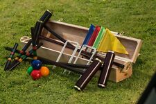 Traditional Garden Games Royal York Boxed Croquet Set Premium Quality Wooden Box