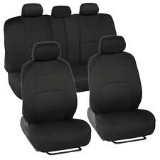 Car Seat Covers for Nissan Versa 2 Tone Color Black w/ Split Bench