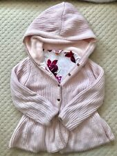 Lovely Pink Knitted Jacket For Girls Aged 5-6 By Ted Baker