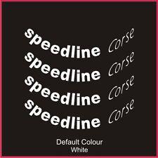 """Speedline 2118 rueda Decals 15/16"""" X8, Vinilo, Pegatina, Coche, Ruedas, N2043"""