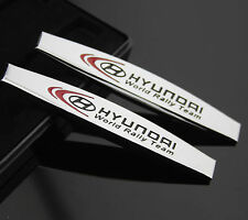2pcs Car Metal chrome Fender Badges Emblems Decal Sticker For World Rally Team