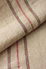 Christmas homespun linen red green fabric material 2.9Yds linen material runner