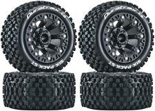 NEW Duratrax F/R Six Pack ST 2.2 Mounted Tire / Black Wheel Set (4) DTXC5103x2