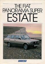 FIAT PANORAMA SUPER 2000 Estate 1984 UK MARKET FOLDOUT opuscolo 131 MIRAFIORI