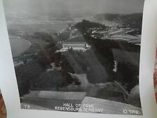 1946? Post WWII Aerial Photograph ORIGINAL Hall of Fame Regensburg Germany 7B
