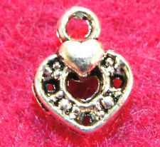 20Pcs. Tibetan  Silver Tiny HEART Charms Pendants Earring Drops Findings H85