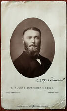 More details for s. nugent townsend signed antique photograph by talber, san francisco mid 1800's