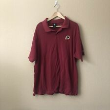 NFL Reebok Men's Washington Redskins Cotton Polo Shirt - Size XL - Red