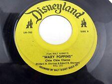 "MARY POPPINS Let's Go Fly a Kite / Chim Chim Cheree Bill Lee LG-783 45 Record 7"""