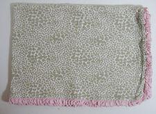 Carter's Brown Hearts Giraffe Print Pink Ruffled Stripes Small Baby Blanket
