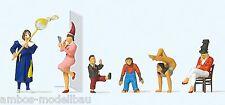 Preiser 20265 H0 Zirkusartisten, 6 Figuren, handbemalt, Neu
