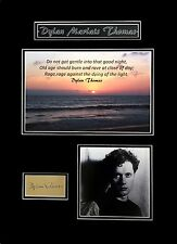 Dylan Thomas Original Signature Cut