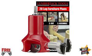 Lumberjack Tools Home Series Log Furniture Tenon Cutter Beginners Kit - 1 1/2in.