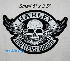 Small Winged Skull Patch ~ Harley Davidson Owners Group HOG H.O.G.