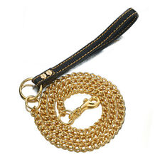 4ft Strong Gold Stainless Steel Weld Link Chain Large Pet Dog Trainning Leash