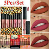 5pcs Liquid Lipstick Set Waterproof Lipgloss Makeup Tool Matte Velvet Lip Gloss