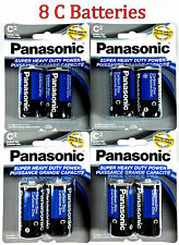 8 Wholesale C Panasonic Battery Batteries Super heavy duty Bulk Lot