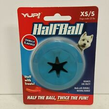 HALF BALL Durable Rubber Bounce Treat Dispensing Inside XSmall/Small Dog Toy
