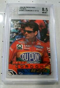Jeff Gordon Press Pass Promo Card 1/3 1999 Graded 8.5 NASCAR