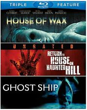 GHOST SHIP / HOUSE OF WAX / RETURN HAUNTED HILL -  Blu Ray - Sealed Region free