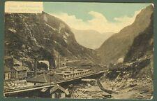 STRADA DEL SEMPIONE. Cantieri. Cartolina viaggiata dentro busta, circa 1905.