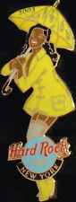Hard Rock Cafe NEW YORK 2003 APRIL SHOWERS Girl PIN #17671 Rain Coat & Umbrella