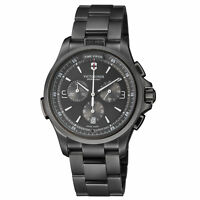 Victorinox Night Vision Quartz Movement Anthracite Dial Men's Watch 241730