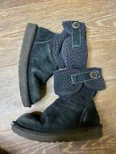 uggs boots Girls 13 Black With Knit Top