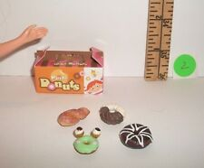 FASHION DOLL MINIATURE RE-MENT 1/6 RETIRED FANCY DONUTS & BOX FOOD ACCESSORY #2
