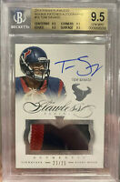 2014 FLAWLESS TOM SAVAGE ROOKIE PATCH AUTO RPA BGS GEM MINT 9.5 HOUSTON TEXANS