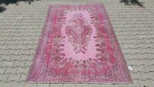 Area rug,6x9 ft,Turkish Rug,Anatolian Rug,Bohemian,Vintage rug,Oushak Rug,pink