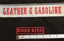 "Custom  Biker Vest Patch ROAD KING  4""X 1"" (RED)"