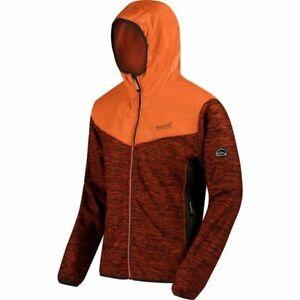 Regatta Mens Harra Hybrid Hooded Softshell Soft Shell Jacket Orange RRP £80