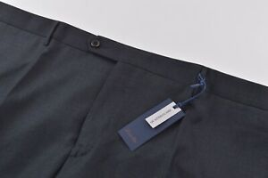 Zanella NWT Dress Pants Size 46 In Solid Charcoal Gray Wool Parker