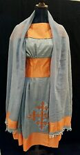 Ethiopian modern dress with shawl size small-Medium elastic waist