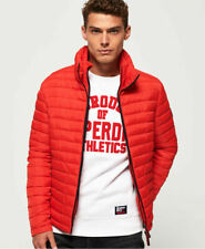 Mens Superdry Fuji Double Zip Jacket Bright Red Size XL