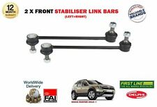 FOR DACIA DUSTER 2012-> NEW 2 X FRONT LEFT+ RIGHT STABILISER LINK SWAY BARS SET