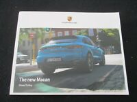 2019-2020 Porsche Macan Large Brochure Macan & S US Intro Sales Catalog